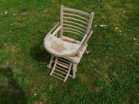 chaise enfant cannée ancienne