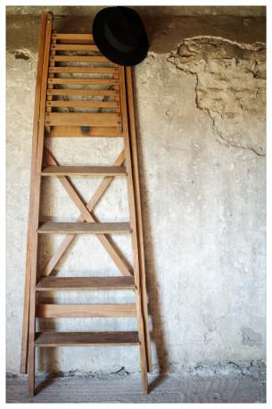 Escabeau peintre échelle ancienne bois