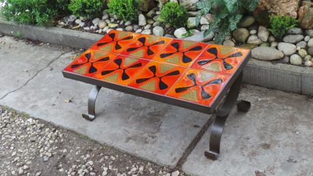 Table basse céramique vintage