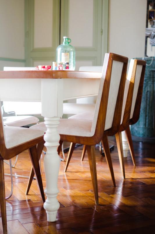 chaises pieds compas ann es 60 bois skai les vieilles choses. Black Bedroom Furniture Sets. Home Design Ideas