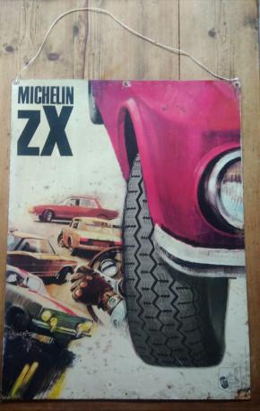 Plaque non émaillée Michelin ZX