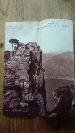 Revue février 1932 touring club de France Corse voyage voiture vélo