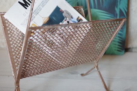 Porte revues magasines fer métal perforé années 50 Mategot