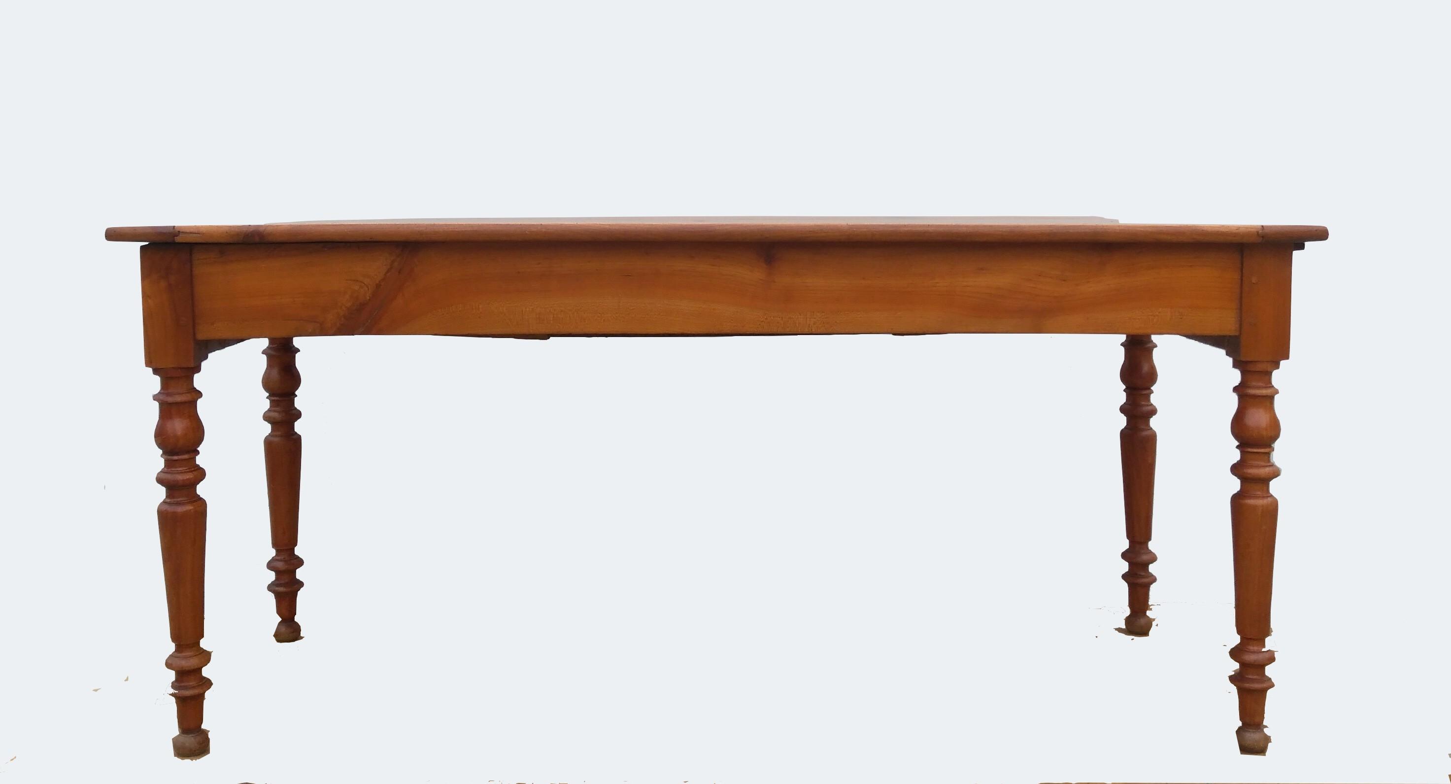 Table de ferme en merisier 12 cm