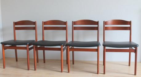 Lot 4 chaises scandinave Années 60