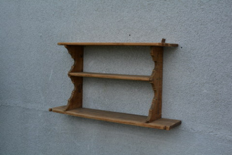 Etagère en bois naturel vintage