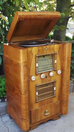 Meuble radio Rayonde vinyle vintage 30's