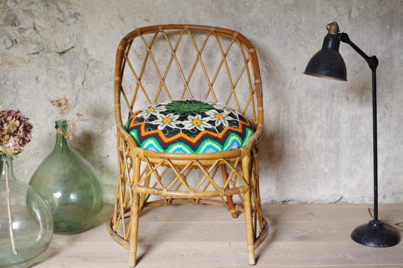 fauteuil rotin vintage annes 60 prcdent suivant - Fauteuil Rotin Vintage