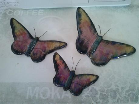Papillons émaillés anciens