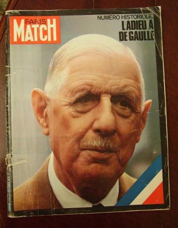 Paris Match – L'adieu à De Gaulle