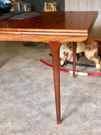 table scandinave extensible ann es 60 vintage les. Black Bedroom Furniture Sets. Home Design Ideas