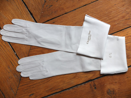 Gants gris perle Dior vintage