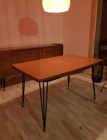 Table En Formica Pieds Style Eiffel Vintage Les Vieilles Choses