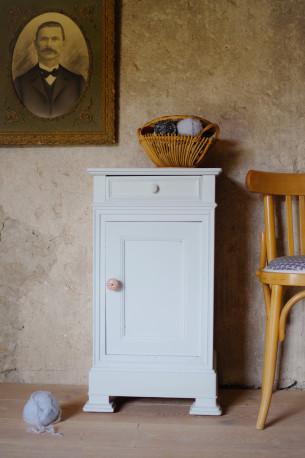 Chevet confiturier vintage rétro bleu bohème bois brocante années 40