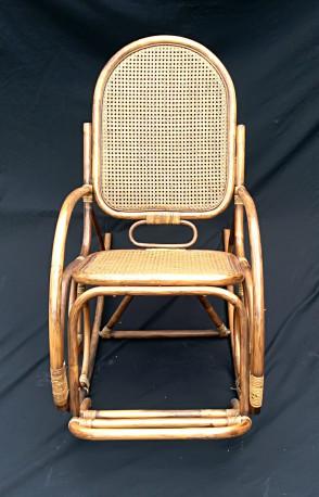 Rocking Chair Rotin Et Bambou Avec Repose Pieds Les Vieilles Choses
