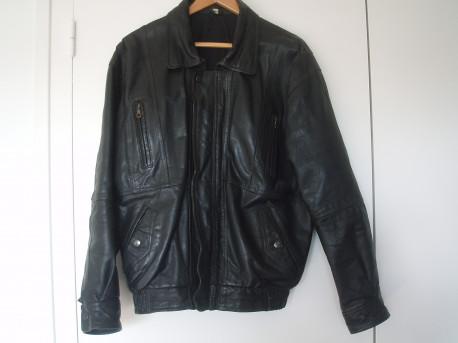 Blouson vintage cuir noir