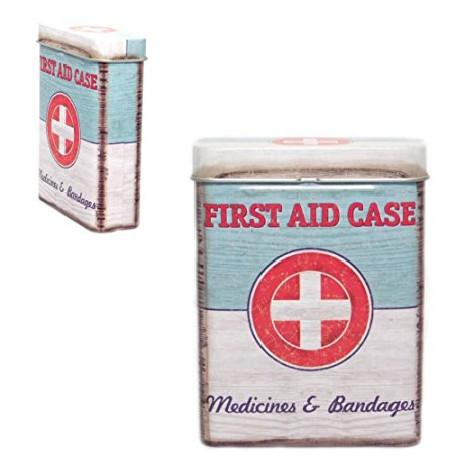 Boîte métal First Aid - Médicaments, pansements, cigarettes