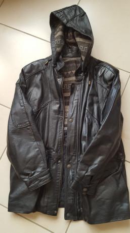 veste cuir noir vintage