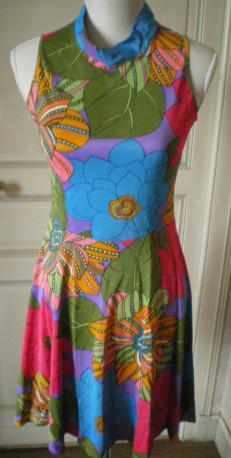 Robe à fleur vintage