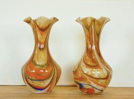 Vase en Verre hauteur 28 - Vintage 60/70