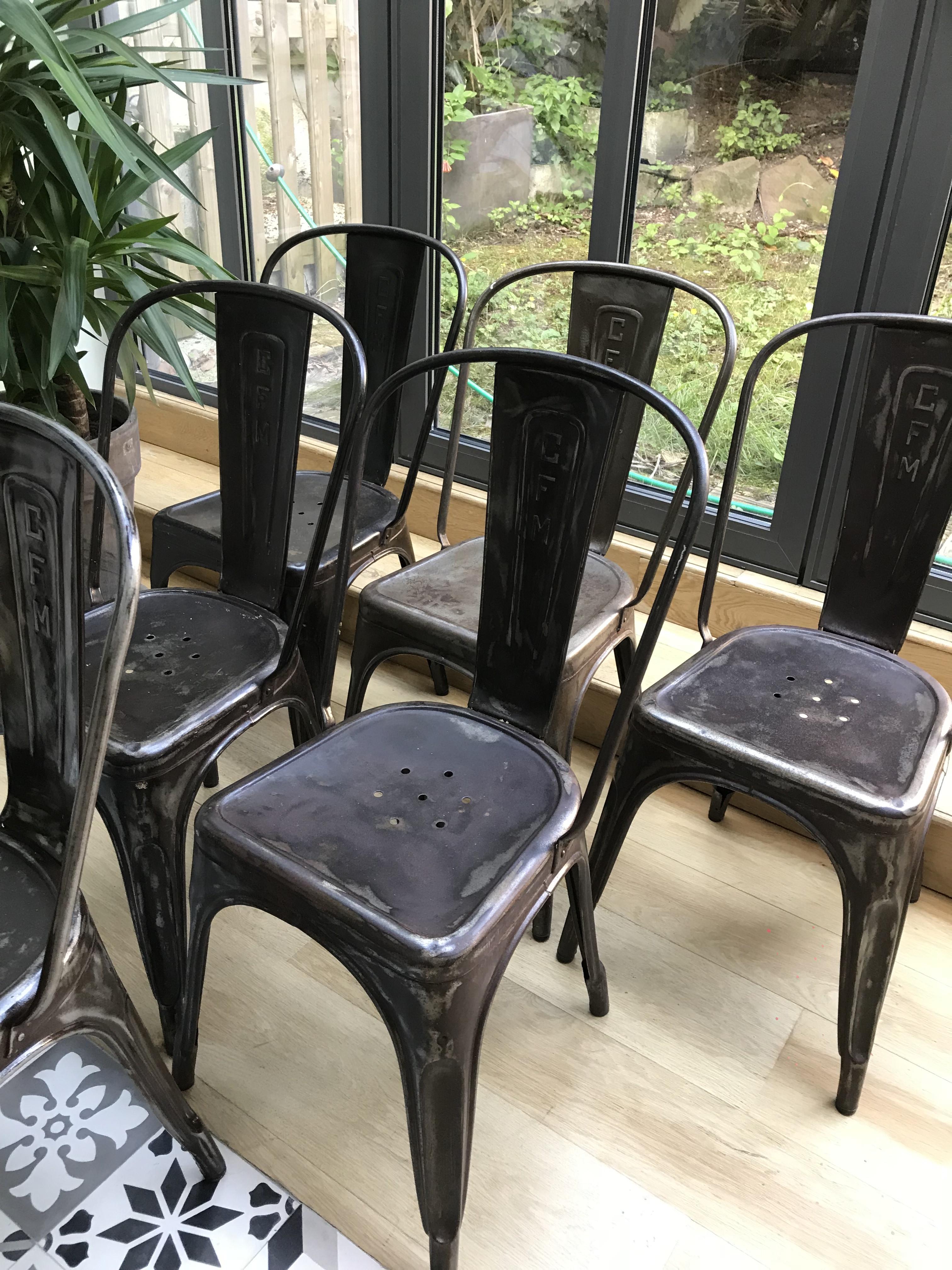 Vintage Personnalisées Cfm Tolix Chaises Chaises xeWdQrCoEB