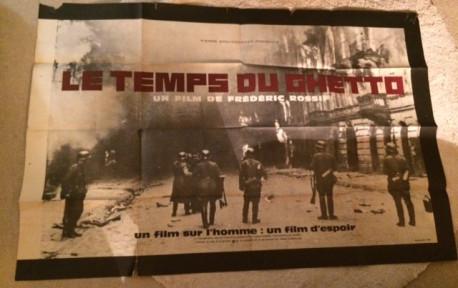 """Affiche originale """"Le temps du ghetto"""" de Frédéric Rossif"""