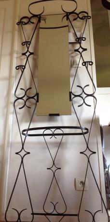 Porte Manteau Metal Noir.Porte Manteaux D Entree Metal Noir Miroir Vintage