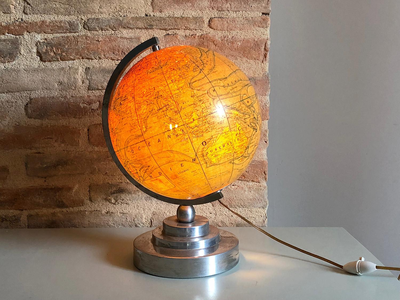 Forskellige Lampe Globe Terrestre Estampillé - vintage - Les Vieilles Choses OC29