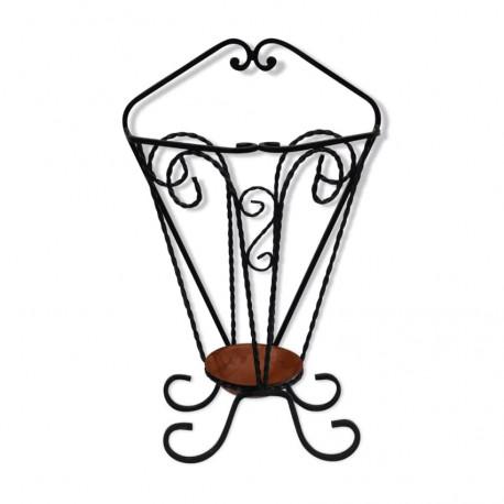 Porte parapluie en fer forgé vintage.