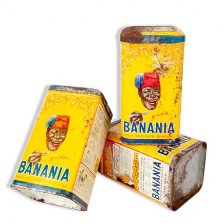 Ensemble de 3 boites métalliques Banania « y'a bon BANANIA » le petit déjeuner familial