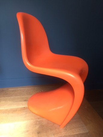 chaise verner panton originale 1976 les vieilles choses. Black Bedroom Furniture Sets. Home Design Ideas