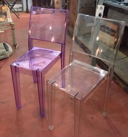 Paire de chaises transparentes Starck
