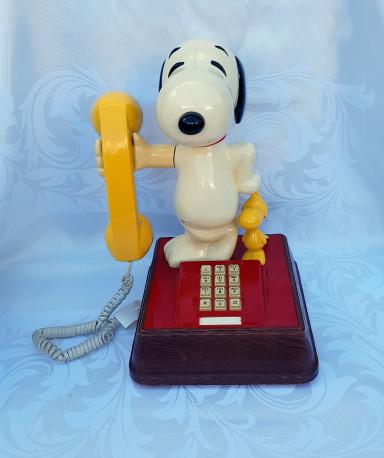 Téléphone vintage Snoopy 1970,fonctionne