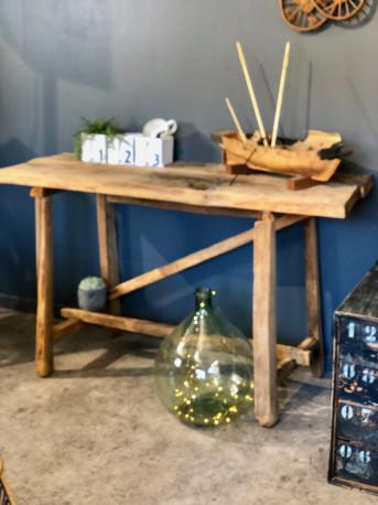 console tabli bois brut vintage les vieilles choses. Black Bedroom Furniture Sets. Home Design Ideas