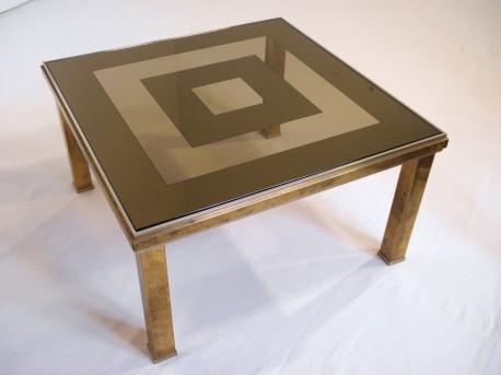 table basse laiton et verre italie 1970 les vieilles choses. Black Bedroom Furniture Sets. Home Design Ideas