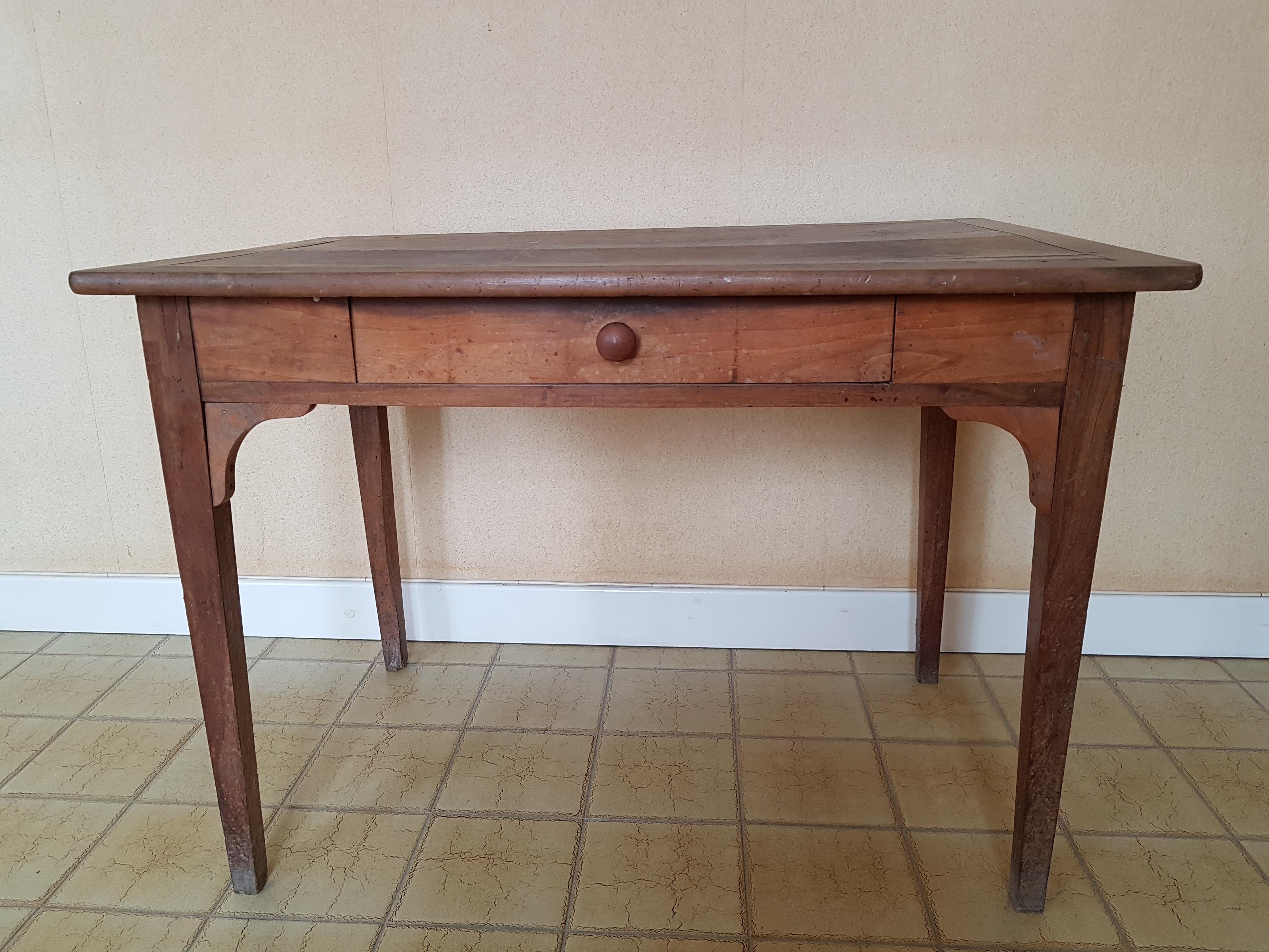Table Bureau Ancienne Avec Tiroir Les Vieilles Choses
