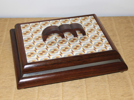 Boite en bois et métal style Art-Déco