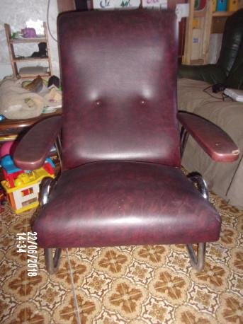 fauteuil vintage ancien skai