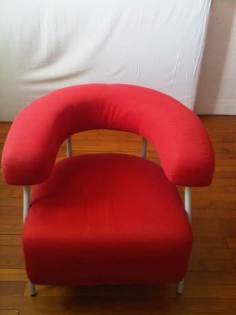 Fauteuil rouge vintage