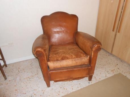 Fauteuils club vintage en cuir