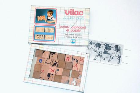 Jouet en bois Vilac - cubes alphabet et puzzle