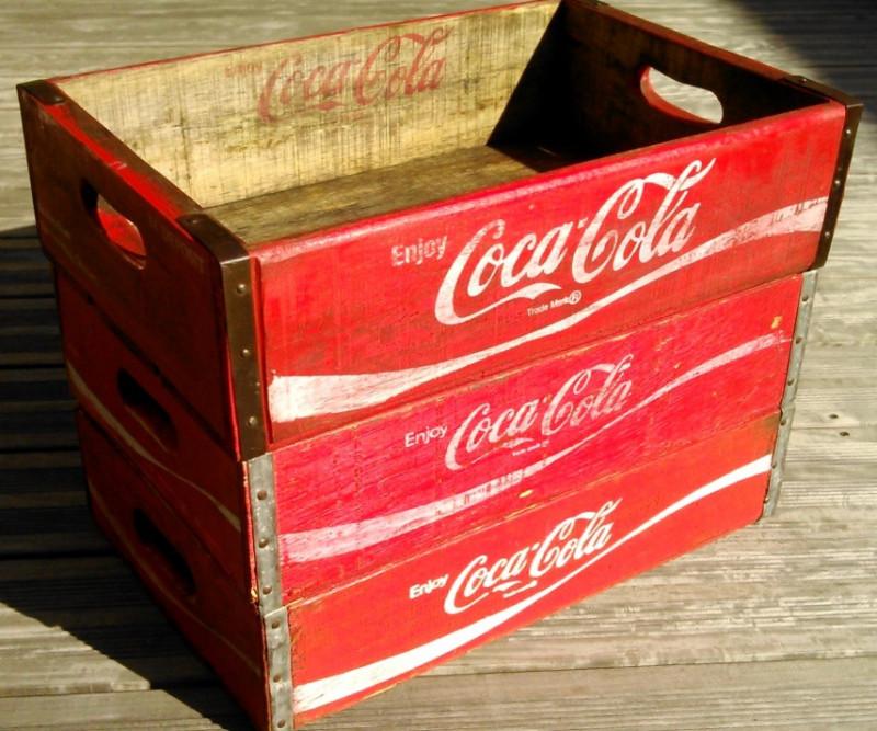 caisse de coca cola us 70 39 s les vieilles choses. Black Bedroom Furniture Sets. Home Design Ideas