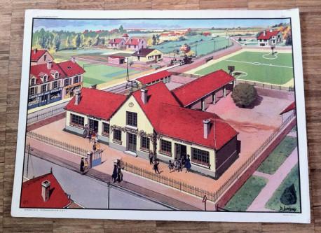 Affiche scolaire Hachette vintage