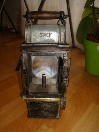 Lampe lanterne SNCF ancienne