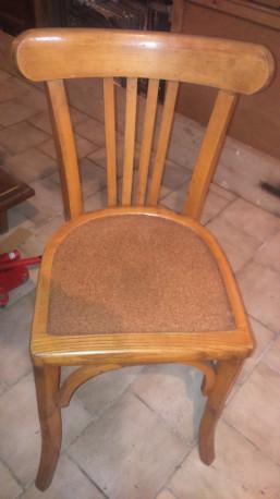 Chaises vintage années 50 bois