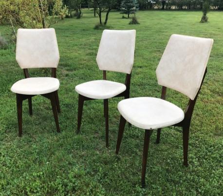 Chaises vintage skai
