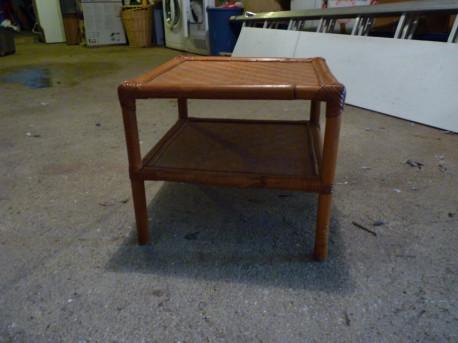 Tables basse en Rotin/ Bamboo vintage
