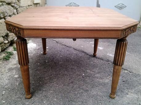Table Art déco 1930 décapée vintage