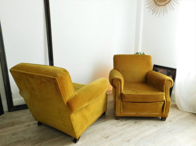 Fauteuil En Velours Jaune Moutarde Vintage Les Vieilles Choses - Fauteuil design moutarde