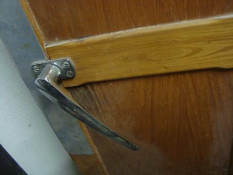 Porte en bois chambre froide 1950 frigo vintage